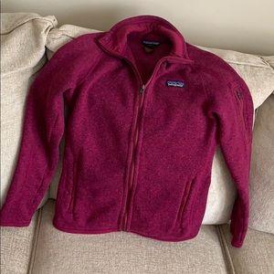Patagonia Fleece Jacket (Maroon) Woman's Size XS
